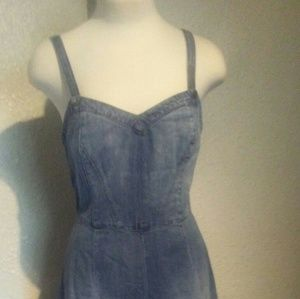 Guess Denim Pull-on Gaucho Style Jumpsuit